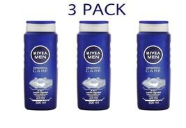 3 X Nivea Original Care Shower Gel For Men Body Wash - 500ml/16.9 Fl Oz - $29.99
