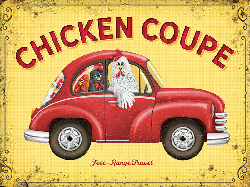 Primary image for Chicken Coupe Free Range Funny Car Kitchen Farming Fridge Magnet