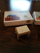 THE HOUSE OF MINIATURES completed bench and cradle. Nos. 40031 and 40035 - $14.80