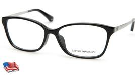 New Emporio Armani Ea 3026F 5017 Black Eyeglasses Frame 54-15-140 B38mm - $83.29