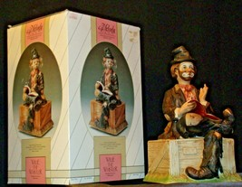 Porcelain Clown with Bisque finish resting on a Bench AA-191925 Collectible image 2