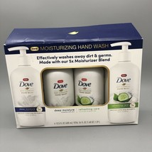 Dove moisturizing hand wash 4 pack refreshing care deep moisture cucumber NOB - $17.03