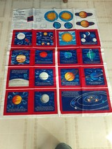 Exploring The Solar System Cloth Soft Book Panel Cotton Fabric Tradition... - $13.57