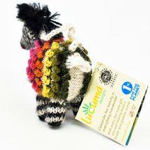 Handknit Alpaca Wool Whimsical Hanging Zebra Ornament Handmade in Peru image 3