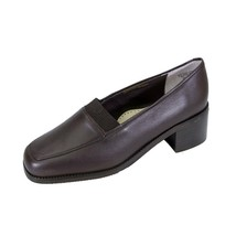PEERAGE Phyllis Women Wide Width Classic Comfort Stack Heeled Leather Loafers - $35.95