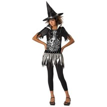 Gothic Witch Costume Dress with Black Jacket Hat Leggings Girls S (8-10) - $19.75