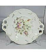 Vintage KPM Germany Fine Porcelain Serving Platter ( P ) Flower Floral G... - $75.46