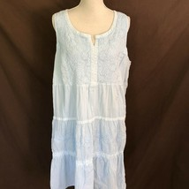 Soft Surroundings Womens Sleeveless Enchanted Gown Blue Size 1X Plus - $39.99