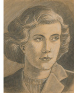 Henry E. Foster (1921-2010) - 1980 Charcoal Drawing, Carol - $81.66