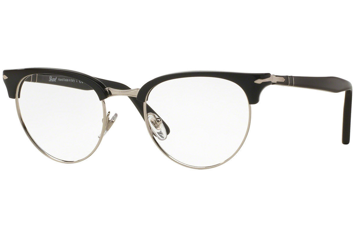Authentic Persol Eyeglasses PO8129V 95 Black Silver Frames 48MM RX-ABLE