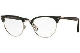 Authentic Persol Eyeglasses PO8129V 95 Black Silver Frames 48MM RX-ABLE - $98.99