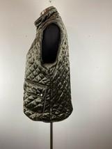 Active USA Womens Jacket Vest Quilted Velvet L Large Zip - $98.99