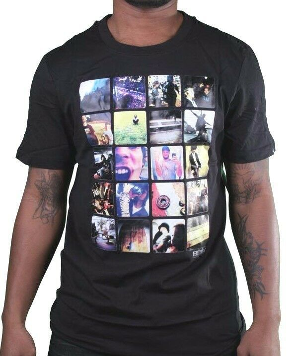 Etnies Skateboarding Mens Black Insta Rad Instagram Pictures T-Shirt NWT