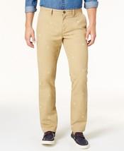 Tommy Hilfiger Beige Shield-Print Custom-Fit Chino Pants - $24.95