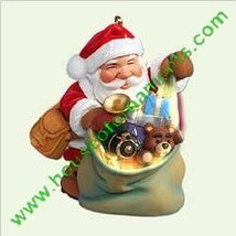SANTA'S MAGIC SACK - ARMY GREEN SACK - HALLMARK ORNAMENT - $9.99