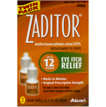 Alcon Zaditor Antihistamine Eye Drops Eye Itch Relief, 0.17 fl oz, Twin ... - $37.39