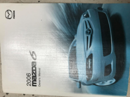 2006 MAZDA6 Mazda 6 Owners Operators Owner Manual Factory Oem Book - $5.93