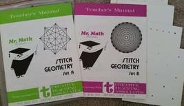 Mr Math Stitch Geometry Homeschool Creative Teaching Associates Vintage 70s - $29.65
