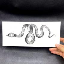 Black Snake Temporary Tattoo Stickers For Women Men Body Waist Waterproof- 3 pcs image 4