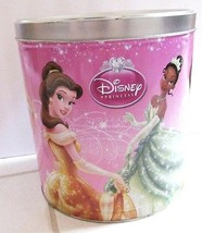 DISNEY PRINCESS POPCORN EXPRESSIONS Tin Storage Container Can 2012 - $27.95