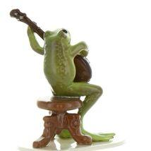 Hagen Renaker Miniature Frog Froggy Mountain Breakdown Banjo Ceramic Figurine image 4