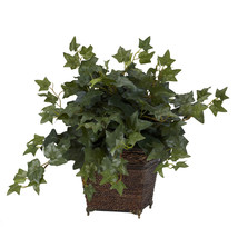 Puff Ivy w/Coiled Rope Planter Silk Plant - $46.25