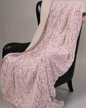 Pink Rose Regal Comfort Oversized Throw Sherpa Ultra Plush Soft Blanket ... - £23.72 GBP
