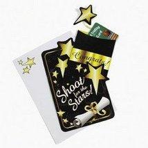 GRAD GIFT CARD HOLDER BLACK/GOLD (1 DOZEN) - BULK - $7.75