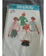 Simplicity Vintage 7986 Size Size 18 And 20 Misses Blouses - $6.99