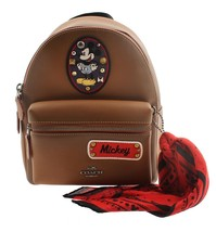 NWT Coach Mini Charlie Backpack in Glove Calf leather with Mickey Patche... - $445.45