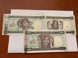 Eritrea 1+ 5+10 banknote 1997 - $10.00