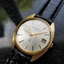 GIRARD PERREGAUX Men's 18K Solid Gold Gyromatic w/Date Dress Watch c.196... - $3,850.33