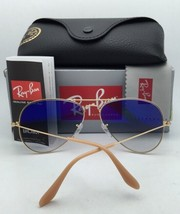 Polarized Ray-Ban Sunglasses Large Metal RB 3025 001/78 58-14 Gold w/ Blue Fade