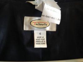 Talbots Navy Wool Blazer Lined Nautical Buttons Professional Career Sz 6 EUC image 7