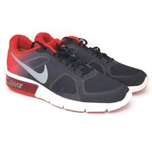 Nike Air Max 10.5 Sequent Black Red Grey Mens Running Shoes SNEAKERS 719912-008 - $59.99