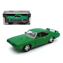 1969 Pontiac GTO Judge Green 1/24 Diecast Model Car by Motormax 73242grn - $29.43