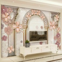Style Rome Column Jewel Pearls Photo Murals Wallpaper Living Room TV Sof... - $14.28
