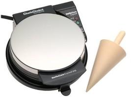 Countertop Waffle Ice Cream Cone Maker Non Stick 7 Inch Waffle Plates BR... - $72.25