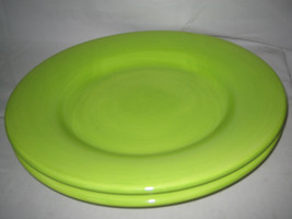 Tabletops Unlimited Espana Bright Green Large Dinner/Chop Round Plate 13... - $15.83