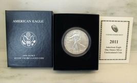 2011-W BU American Silver Eagle in OGP w/ Papers AJ948 - $43.44