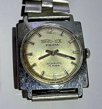 Siglo XX Prima Vintage Women's Watch Peseux 7060 Swiss Square 28 X 28 mm - $74.44