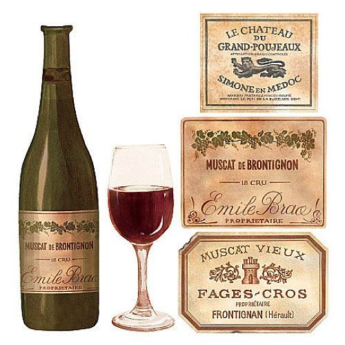 Wallies 12188 Wine Tasting Wallpaper Cutout - $15.00