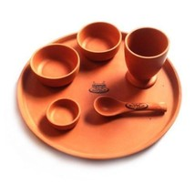 Ayurveda Dining Dinnerware Hand crafted Traditional Dinner Set Vintage & unique - $41.58