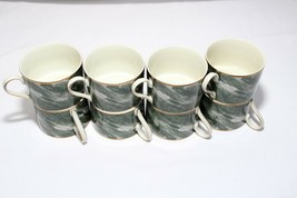 Mikasa Travertine Green Cups Set of 8 - $47.03