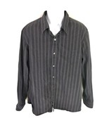 American Eagle Men's Button Front Black Shirt XL - $19.79