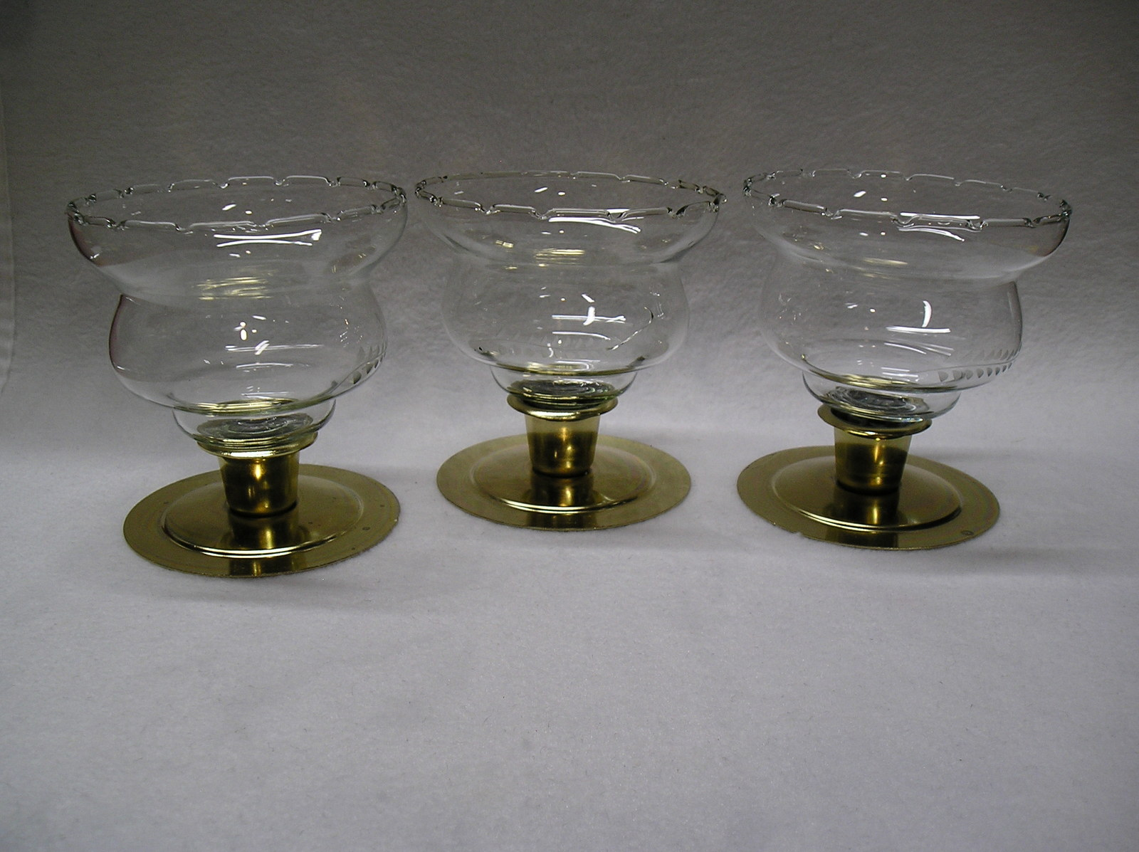 Primary image for 3  Homco  Etched Wheat Short Peg Votive Cup Candle Holders.