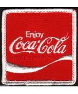 Vintage uniform patch COCA COLA soda pop wave logo #1 unused new old sto... - $7.99