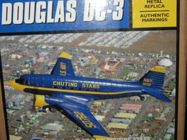 US Navy Chuting Stars Blue Angels Ertl DC-3 C-47 Airplanes w Stand NEW-F... - $50.00