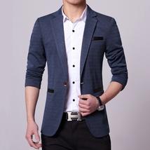 New Fashion Autumn and Winter Men Black Suit Jacket Men's Casual Business Suit J image 8