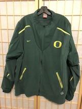 Oregon Ducks Football Nike Fleece Zip Up Jacket Therma Fit Men's XL Green - $24.99
